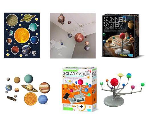 Maquetas del Sistema Solar a escala