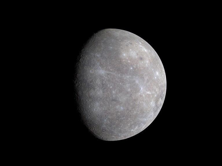 Mercurio desde la nave MESSENGER (NASA)
